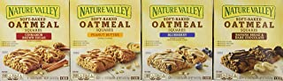Nature Valley Soft Baked Oatmeal Bars 4 Variety Pack - Banana Bread Dark Chocolate, Blueberry, Cinnamon Brown Sugar, Peanut Butter - 24 Total Bars