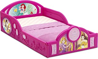 Disney Princess Deluxe Toddler Bed with Attached Guardrails | Cinderella | Belle –..