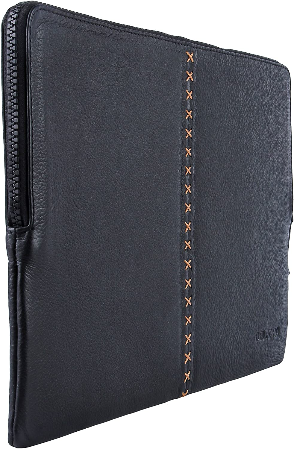 BELFORD Max 51% OFF Genuine Leather Black Padded Sleeve Pro I Boston Mall MacBook 13 for