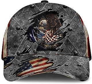 American Eagle Flag Baseball Hat Adjustable Size Breathable Lightweight Classic