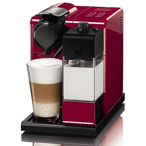 Nespresso EN550.R Lattissima Touch Automatic Coffee Machine, Glam Red