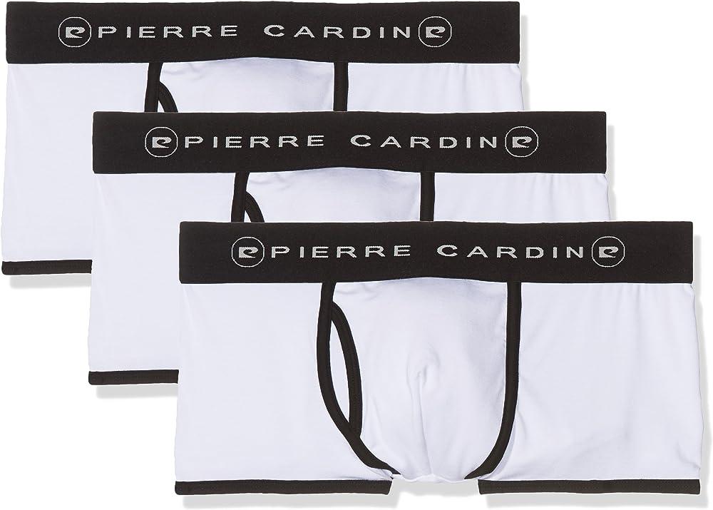 Pierre cardin, set 3 pezzi, boxer per uomo,95% modal, 5% elastane 318/Pack 3_BLANCO-L