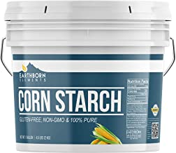 Corn Starch (1 Gallon (4.5 lb.)) by Earthborn Elements, Resealable Bucket, Thickener For Sauces, Soup, & Gravy, Highest Quality, All-Natural, Kosher, Vegan, Gluten-Free