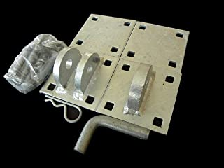 Dock Hardware DH-GLK Floating Dock Galvanized Link Kit - T-Connectors, Backer Plates, and Bolts