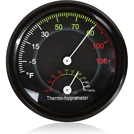 LOVIVER 2 Pcs//set Reptile Thermometer Humidity Hygrometer For Reptile Gecko Frog Tank