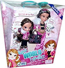 Bratz World Familiez 2 Pack Doll Set - Yasmin (As a Little Kid) and Her Mom Portia with Exclusive Pet (Puppy Dog) and Accessories