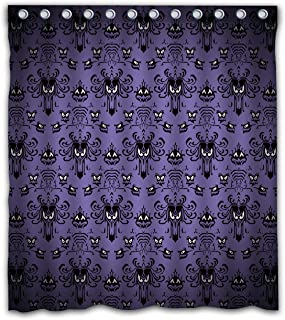 Gdcover Happy Halloween Haunted Mansion Design Waterproof Shower Curtain Fabric for Home..