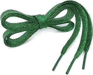 Flat Shiny Metallic Glitter Shoelaces WEGOODZF Sequin Flat Shoe Strings[2 Pair]
