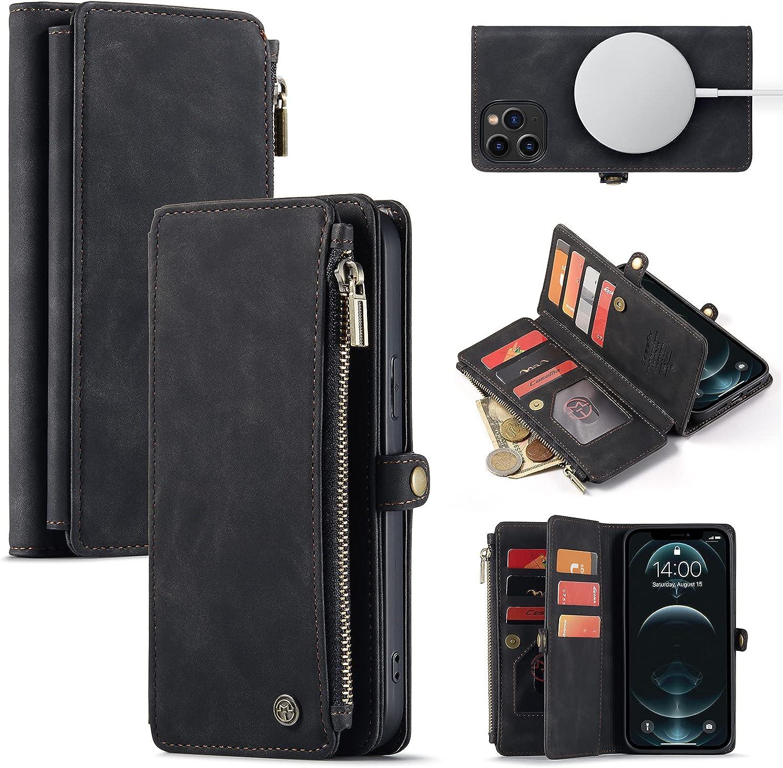 Caseme Magnetic Wallet Case Designed for iPhone 12 Pro Max (6.7