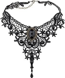 Diealles Damen Maedchen Gothic Style Lolita Spitzen Pinzessin Halskette für Party, Veranstaltung, Halloween-Kostüm