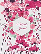5 Minute Journal: Beautiful Floral, Daily Mindfulness Planner for Manage Anxiety, Worry and Stress Large Print 8.5 X 11 Da...