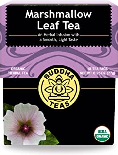 Organic Marshmallow Leaf Tea, 18 Bleach-Free Tea Bags – Caffeine Free Tea Supports Gastrointestinal Issues and Respiratory...