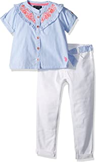 U.S. Polo Assn. Girls' Fashion Top and Legging Set