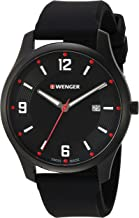 Wenger Men's 'City Active' Swiss Quartz Stainless Steel and Silicone Casual Watch