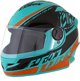 Pro Tork Capacete Infantil New Liberty For Kids 54 multicor (Azul/Laranja/Preto)