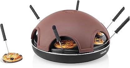 Tristar PZ-9156 Appareil de Cuisson Festa pour Mini-Pizzas, Plastique, Noir/Argile