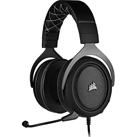 Corsair Hs60 Pro Surround Cuffie Gaming con Microfono, Audio 7.1 Surround, Padiglioni Memory Foam, Cancellazione del Rumore Microfono con Pc, Ps4, Xbox One, Nero