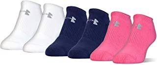 Under Armour Youth Cotton No Show Socks, 6-Pairs