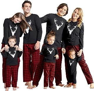 oceansEdge11 Matching Family Christmas Pajamas Set for Mom Dad Kids /& Baby Long Sleeve Family Sleepwear Christmas Print Pajama Set Winter Holiday