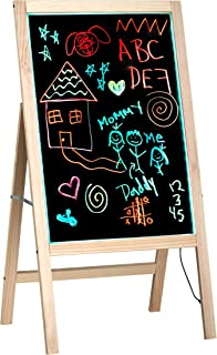 Alpine Industries LED Illuminated Wooden Message Writing Board on an A-Stand 20