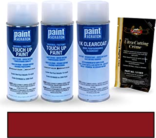 PAINTSCRATCH Laser Red Pearl Metallic Tri-Coat E9/M6688 for 2000 Ford Mustang - Touch Up Paint Spray Can Kit - Original Factory OEM Automotive Paint - Color Match Guaranteed