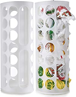 Grocery Bag Storage Holder - Large Capacity Bag Dispenser to Neatly Store Plastic Shopping Bags and Keep Handy for Reuse. Access Holes Make Adding or Retrieving Bags Simple and Convenient. (2-Pack)