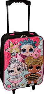 """L.O.L Surprise! Girl`s 15"""" Collapsible Wheeled Pilot Case - Rolling Luggage"""