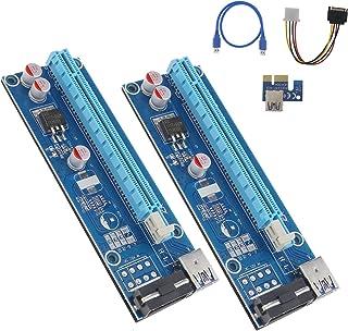 OTOTEC USB 3.0 PCI-E Express 1 x a 16 x Extensor Adaptador de Tarjeta Riser Cable 4 Pines Azul