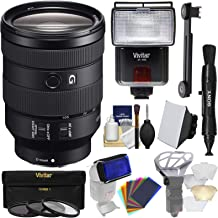 Sony Alpha E-Mount FE 24-105mm f/4.0 G OSS Zoom Lens with 3 UV/CPL/ND8 Filters + Flash + Soft Box + Diffusers + 12 Color Gels + Kit