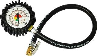 Bamax BX106FM - Manómetro de medida de presión de neumáticos semiprofesional, color negro.
