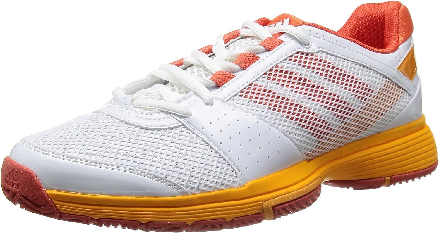 Adidas - Barricade Team 3 W - F32354 - Farbe  Wei-Rot-Orangefarbig - Gre  38 EU