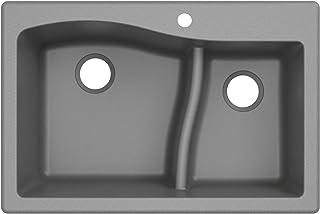Best Kraus Quarza Kitchen Sink   33-Inch 60/40 Bowls   Grey Granite   KGD-442 model Review