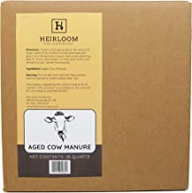 100% Natural Aged Cow Manure, 26 Quart Box by Heirloom Fine Gardening