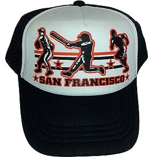 Toddler Kid's San Francisco Baseball Snapback Mesh Trucker Hat Cap