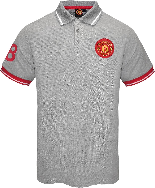Manchester United FC - Polo oficial para hombre - Con el escudo del club