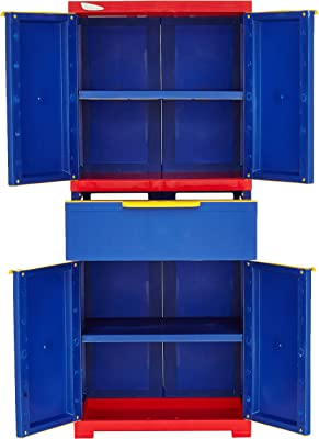 Nilkamal Freedom FMDR1C Plastic Cabinet Blue , 4 Doors
