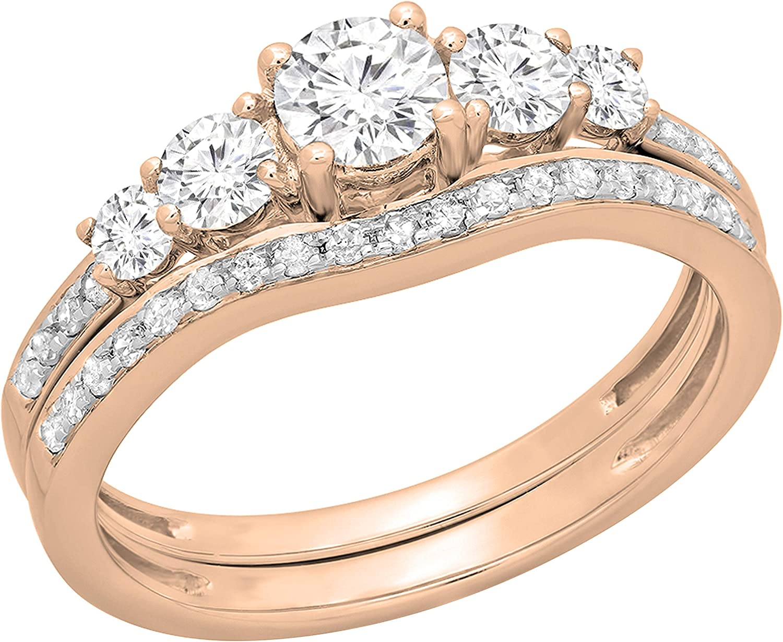 Dazzlingrock Collection 0.75 Carat ctw Ladies Round Luxury Super sale period limited 5 Diamond