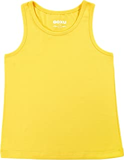 GOXU Girls' Cotton Racerback Tank Top for Every Day
