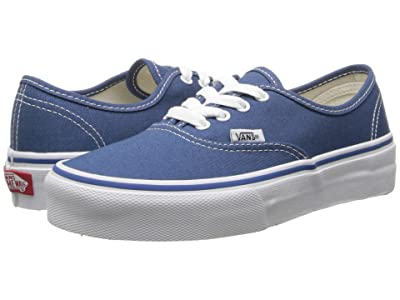 Vans Kids Authentic (Little Kid/Big Kid) (Navy/True White) Kids Shoes