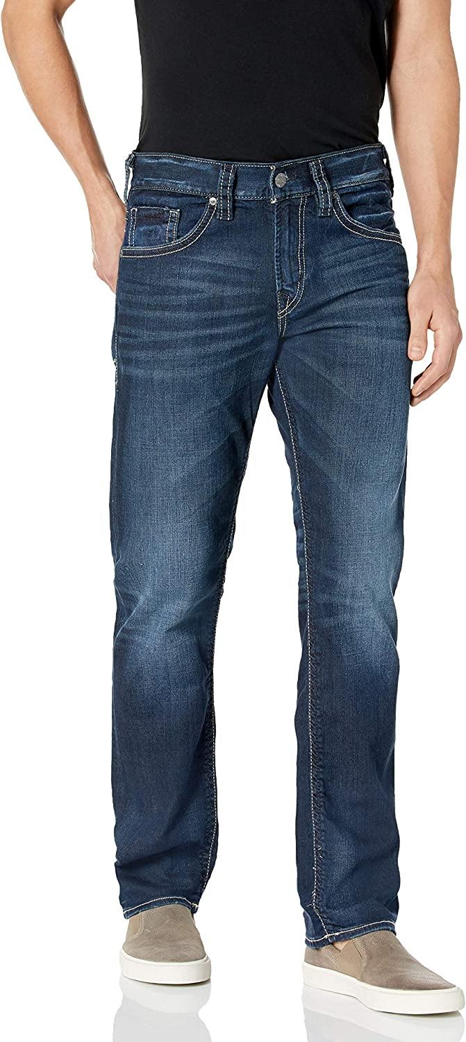 Silver Jeans Co. National uniform free Max 88% OFF shipping Men's Eddie Relaxed Leg Fit Tapered