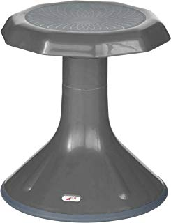 """ECR4Kids ELR-15615-GY Ace Active Core Engagement Wobble Stool for Kids Flexible Classroom and Home Seating Gray, 15"""" H, Grey"""