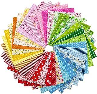 Bold Pattern Geometic Patter Fabric PreCut 18 Pieces Crafting Scrap Fabric Pre Cut Shirt Shape Scrap Fabric Blended Fabric