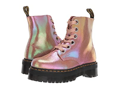 Dr. Martens Molly Quad Retro (Pink Iridescent Texture) Women