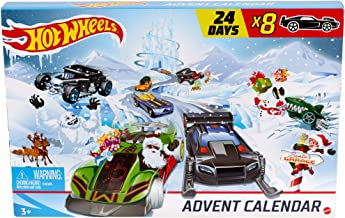 Hot Wheels Advent Calendar 24 Day Holiday Surprises with Cars and Accessories Ages 3 and Older, Multicolor