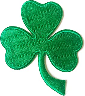 Three Leaf Clover Green Shamrock Sew Iron on Embroidered Applique Badge Sign Patch Clothing