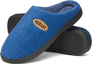 شباشب Pamray للرجال دافئة للنساء كلاسيك حذاء خفيف من نسيج اللباد مريح أساسي للجنسين مع بطانة ناعمة من الصوف المرجاني
