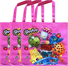 Shopkins Reusable Party Favor Tote Bags Gift Set 12x 12 Inches (Pack of 3)