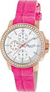 Kenneth Cole New York Women's Japanese Quartz Stainless Steel Case Leather Strap Pink,(Model:KC2807)