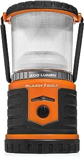 Brightest Rechargeable Lantern LED | Hurricane, Blackout, Storm | Power Bank Light | 400 Hour Runtime (Orange)