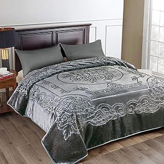 JML Fleece Blanket King Size, Heavy Korean Mink Blanket 85 X 95 Inches- 9 Lbs, Single..